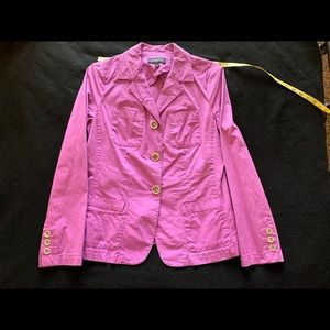 Talbots lightweight lavender stretch jacket 10P